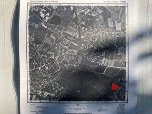 Luftbild von 1990 mit B 1 ohne 3. Auffahrt