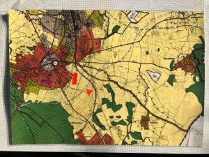 Flächennutzungsplan von 1985 mit geplanter B1/Südring